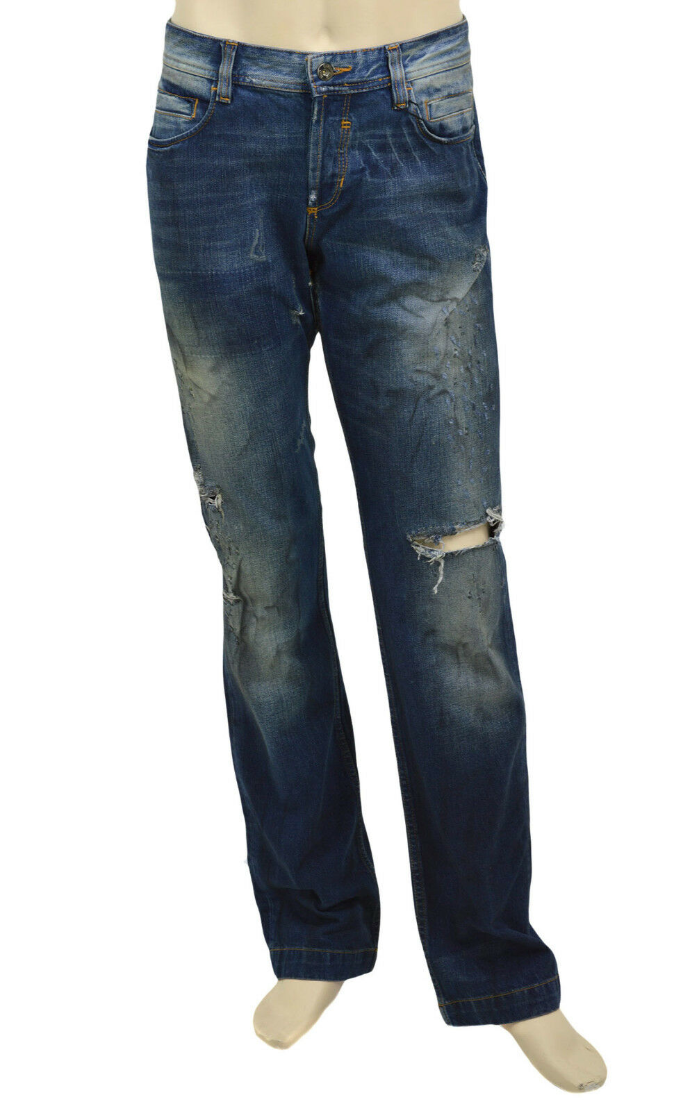 $295 DOLCE /& GABBANA Blue Washed POWER Men/'s Denim D/&G Jeans NEW COLLECTION