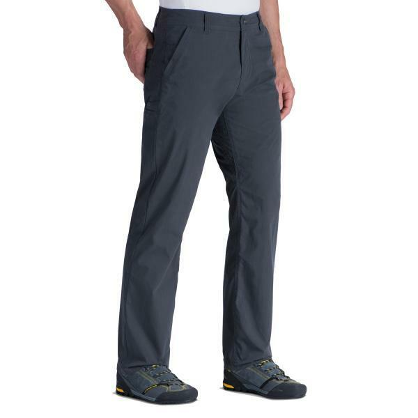 KUHL MEN'S SLAX KLASSIK FIT CARGO HIKING PANTS IN CARBON blueE GREY NWT  36x32