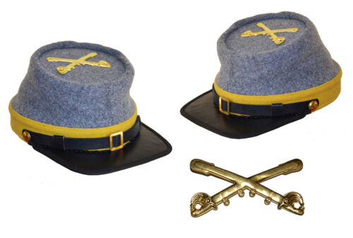 American Civil War Confederate Cavalry Style Kepi With Badge XLarge 60//61cms