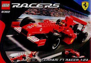 Lego Racers 8362 Ferrari F1 Racer 1 24 Retired Complete Set Rare Red Race Car Ebay