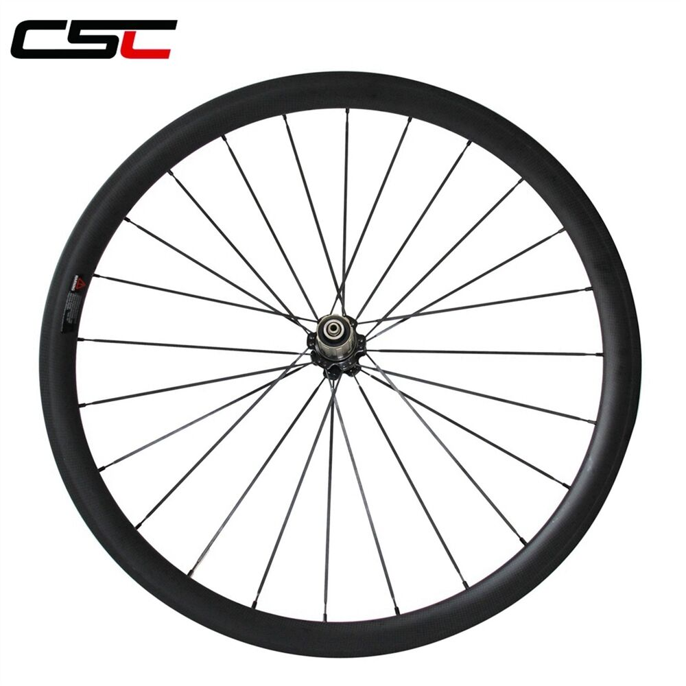 CSC 650C 50mm  Clincher carbon Rear wheel only carbon fiber bicycle racing wheel  cheaper prices
