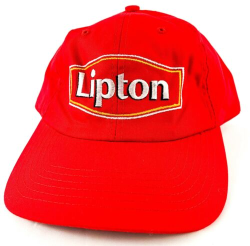 Vintage Retro Lipton Tea Red Hat Snapback