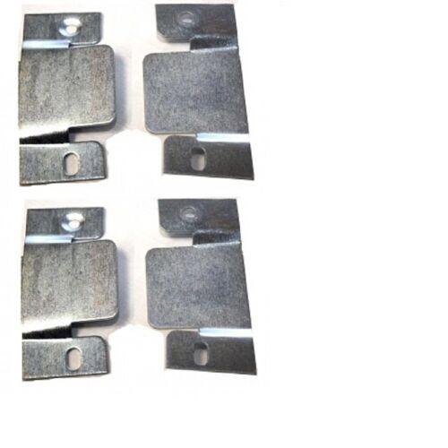 2 pair Interlocking headboard wall brackets clips heavy flush mount lift up duty