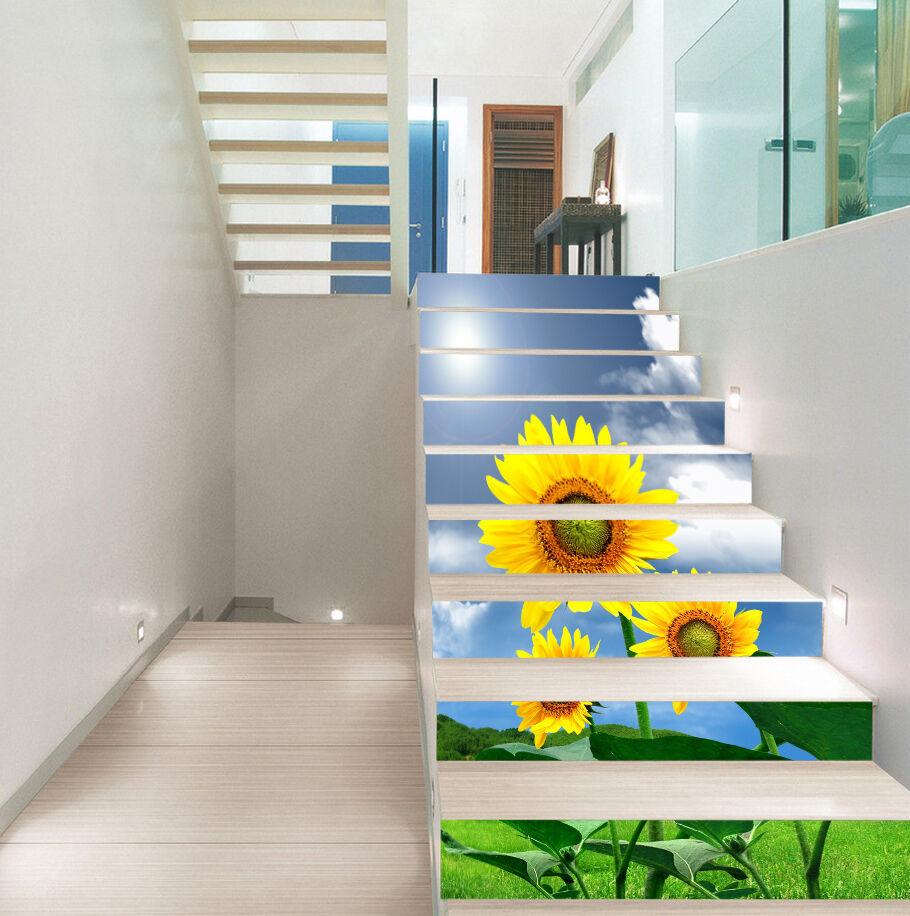 3D SonnenBlaume 4029 Stair Risers Dekoration Fototapete Vinyl Aufkleber Tapete DE