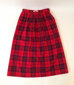40c4100739 Image is loading Classic-Pendleton-100-Pure-Virgin-Wool-Pleated-Red-