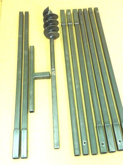 120 mm / 10 meter auger set earth auger well drill hand auger post borer post