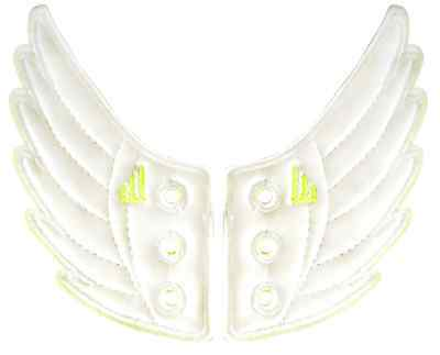 SHWINGS WHITE FOIL wing wings for your shoes official designer Shwings NEW 10401
