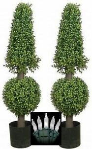 2 artificial 38 boxwood outdoor uv topiary tree christmas lights image is loading 2 artificial 38 034 boxwood outdoor uv topiary aloadofball Choice Image