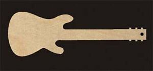 Electric-Guitar-Christmas-Ornament-4-034-Tall-Natural-Craft-Wood-732-4