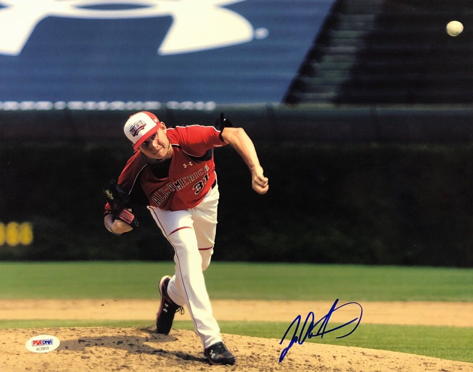 Tyler Matzek Signed Baseball 11x14 Photo *All American *Rockies PSA AE20819