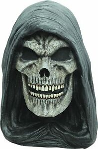 Halloween Costume THE GRIM REAPER OF DEATH LATEX DELUXE MASK Haunted House NEW