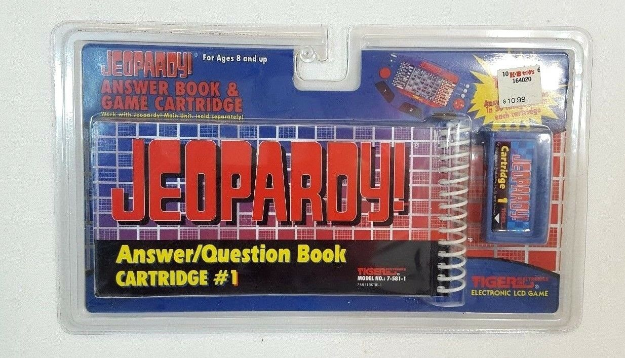 Tiger JEOPARDY Answer   Question BOOK & CARTRIDGE For Handheld Electronic NEW