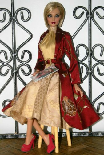 """Fall Dress /& Coat Doll Clothes Sewing Pattern for 16/"""" Kingdom Dolls"""