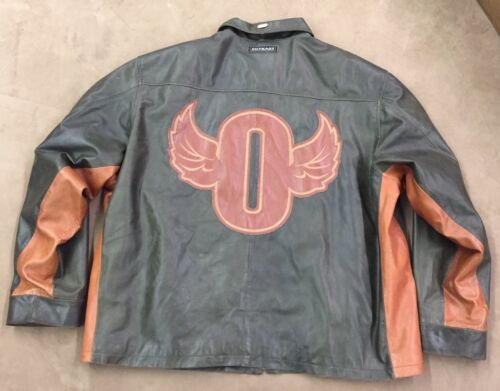 Authentic OutKast Leather Coat 3XL Jacket Green Qu