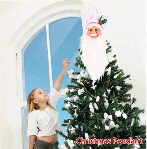 SANTA BEARD DECORATION Window Top Hanging Tinsel Christmas Tree Window Outdoors
