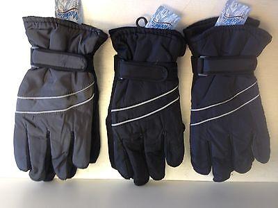 New Men's Women's Nochilla Gloves Thinsulate Winter Wear Gray/Black/Blue L - XL