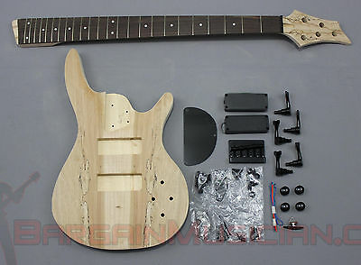 BASS - 5 String Body Style DIY Unfinished Project Luthier Electric Guitar Kit!