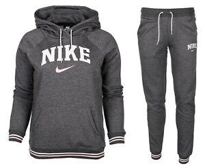 Details zu Nike damen trainingsanzug sweatanzug jogginganzug kapuzenpullover hose fleece