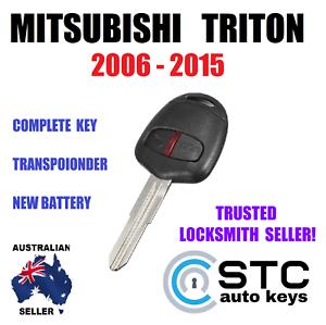 MITSUBISHI-TRITON-COMPLETE-REMOTE-TRANSPONDER-CHIP-CAR-KEY-FOB-2006-2015