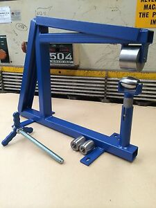Bench-Vice-English-Wheel-With-Anvils-Complete-Setup-Wheeling-Machine