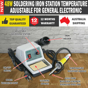NEW-48W-Soldering-Iron-Station-Temperature-Adjustable-for-General-Electronic