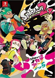nintendo switch splatoon 2 ikasu art book illustration game japan