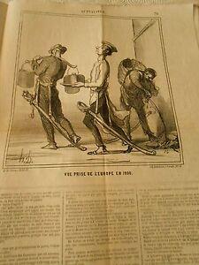 Hd 3183 Caricature Daumier 1868 Vue Prise De L'europe En 1900 4apngfcy-10104141-869487107