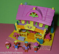 Polly Pocket Mini ♥ Light up Horse House ♥ 100% Komplett ♥ 1994 ♥ Beleuchtung ♥