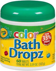 Crayola Color Bath Dropz 60 ea (Pack of 2)