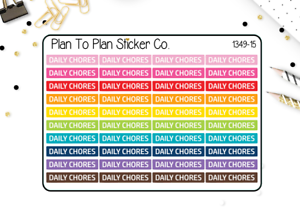 1349-15 Daily Chores Header//Dividers Planner Stickers