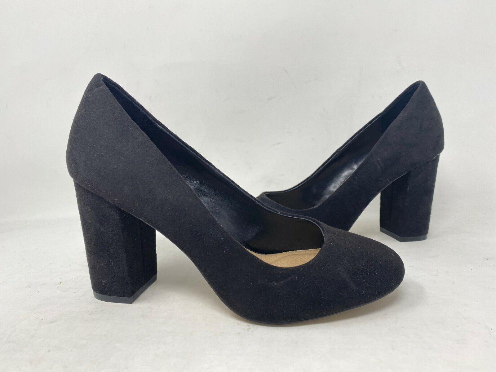 NEW! Apt.9 Women's Daylight Slip On Block High Heels Black #116367 196PQ tk