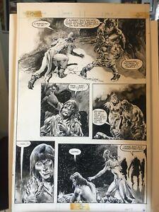 RARE! Original JOHN BUSCEMA Art SAVAGE SWORD OF CONAN #98 Pg16 RUDY NEBRES 1984