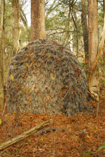 Ghillie Backpack Tent/Blind with Ghillie cover,   Desert color