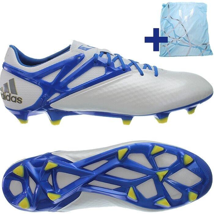 Adidas Messi 15.1 FG AG Herren Profi-Fußballschuhe weiß blau gelb NEU