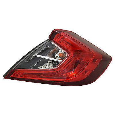 TYC Left Side Tail Light Assy for Honda Civic Sedan 2016-2017 Models