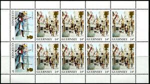 GUERNESEY-PETIT-FEUILLET-MARGE-des-N-292-2x-et-295-8x-NEUF