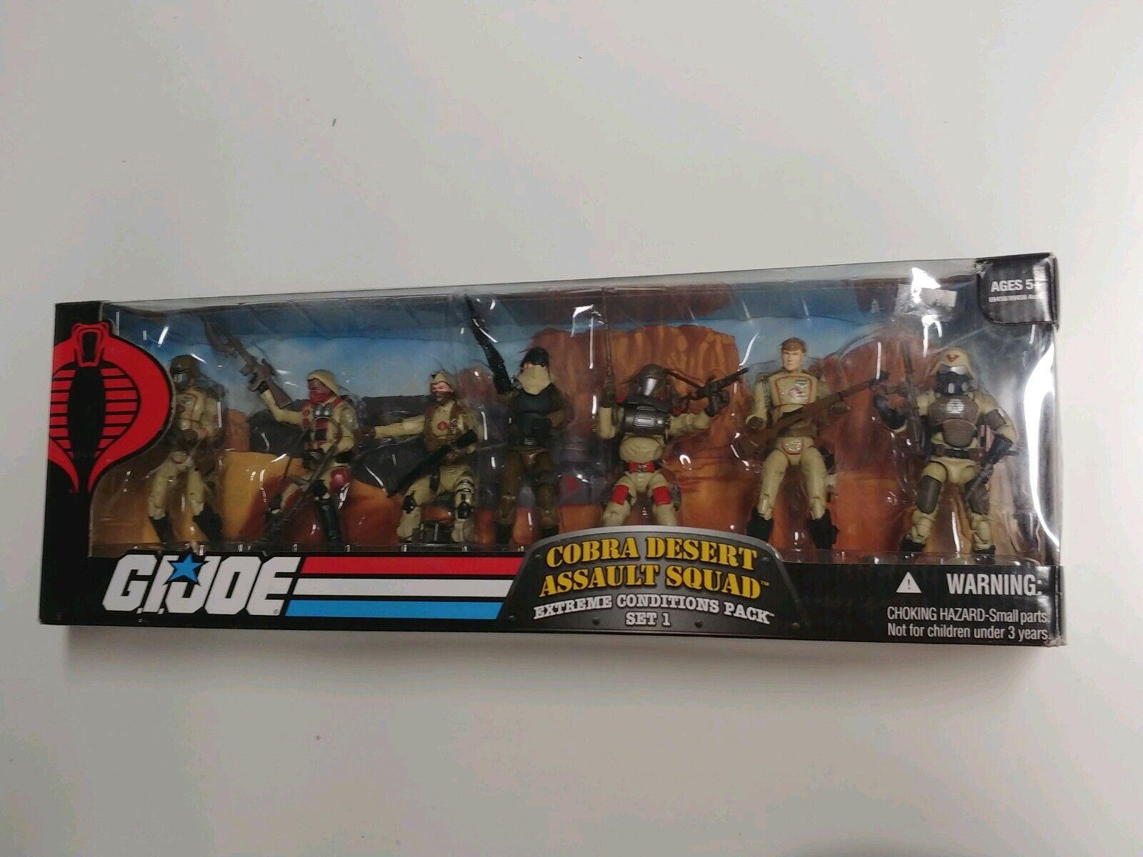 G.I. Joe COBRA DESERT Assault Squad conditions extrêmes Set 1 25TH Anniversaire