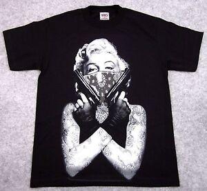 Marilyn Monroe Green Bandana Guns Men/'s T-shirt Brand New Quality Tee