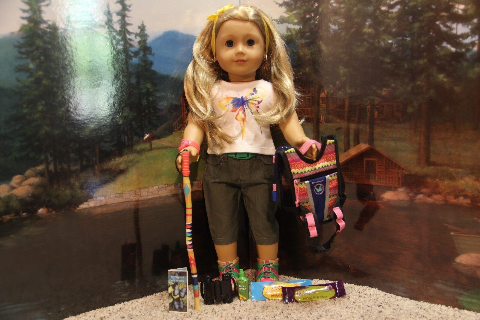 American Girl Lea  Rainforest Hike Outfit & Accessories  - COMPLETE-RETIrot-NIB