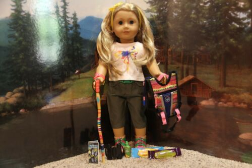 """COMPLETE-RETIRED-NIB American Girl Lea /""""Rainforest Hike Outfit /& Accessories/"""""""