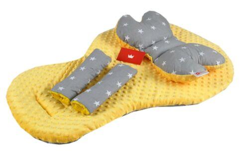 REVERSIBLE Pillow Belts Covers 3 pc Stroller//Car seat// Pushchair Liner //Mat