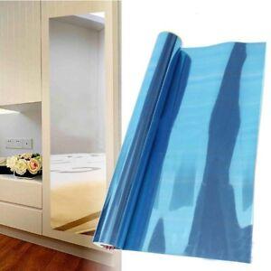 60*100 CM Mirror Tile Wall Sticker Square Self Adhesive Room Bathroom Stick On