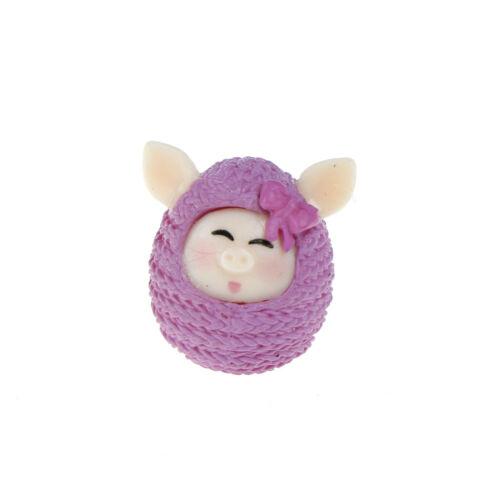 Mini Pig Ornament resin crafts Micro landscape fairy miniatures garden decor ENI