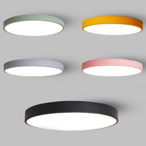 LED-Macaron-Deckenleuchte-Deckenlampe-Wandlampe-Acryl-Beleuchtung-Wohnzimmer-DE