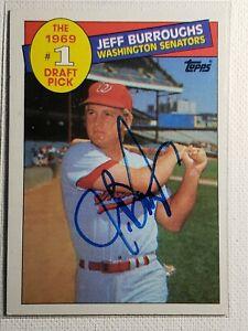 1985 Topps Jeff Burroughs Auto Autograph Card Signed Senators Rangers Braves 272