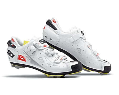SIDI Dragon 4 Carbon Composit MTB Cycling Shoes White//White