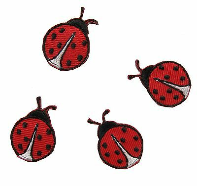 """#3458S Lot 4Pcs 1"""" Ladybug Embroidery Iron On Applique Patch"""