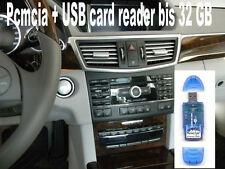 MERCEDES Comand PCMCIA SD HC + USB CARD READER fino a 32 GB w212 w221 w204 w207 w216