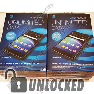 Lot-of-10-UNLOCKED-AT-amp-T-PREPAID-LG-Phoenix-4-5-034-LTE-GSM-Android-7-1-T-mobile-NEW