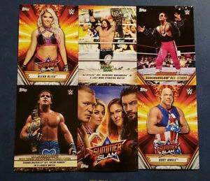 2019-Topps-WWE-Summerslam-Mr-Greatest-Matches-Moments-Poster-You-Pick